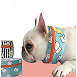 Собака Шарф для собаки Одежда для собак На каждый день Реактивная печать Черный Синий Костюм Для домашних животных