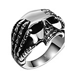 Men's Rock Hiphop Statement Jewelry Stainless Steel Copper Skull Jewelry For Halloween Street