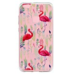 Case For Huawei P8 Lite (2017) P10 Lite Transparent Embossed Pattern Back Cover Flamingo Soft TPU for Huawei P10 Lite Huawei P8 Lite