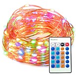 33ft Multi color Dimmable with Remote Control Waterproof 100 LED String Copper Wire Lights for Party