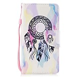 cheap -Case For Apple Ipod Touch5 / 6 Case Cover Card Holder Wallet with Stand Flip Pattern Full Body Case  Dream Catcher Hard PU Leather