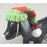 Dog Hats, Caps & Bandanas Dog Clothes Christmas Color Block Red Costume For Pets