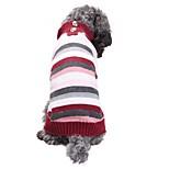 Недорогие -Кошка Собака Костюмы Плащи Свитера Рождество Одежда для собак На каждый день Сохраняет тепло Свадьба Хэллоуин Новый год В полоску
