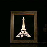 cheap -1 Set Of 3D Mood Night Light LED Lights USB Bedroom Photo Frame Lamp Gifts Tower