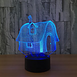 LED 3D Stereo Visual Creative Dream Light Romantic Night Light (USB or 3*AAA Battery Powered NO Battery