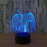 led 3d stéréo visuel créatif rêve lumière romantique veilleuse (usb ou 3 * aaa alimenté par batterie pas de batterie