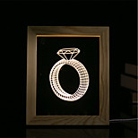 1 Set Of 3D Mood Night Light LED Lights USB Bedroom Photo Frame Lamp Gifts Diamond Ring