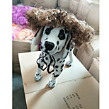 Cat Dog Tiaras & Crowns Wig Dog Clothes Stylish Striped Gray Costume For Pets