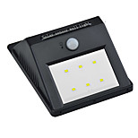 1PCS 6LEDs Waterproof LED IP65 Solar PIR Motion Sensor Lights LED Outdoor Wireless Wall Lamp
