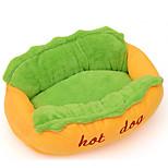 Кошка Собака Кровати Животные Коврики и подушки Контрастных цветов Для домашних животных