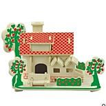 cheap -3D Puzzles Wooden Puzzles Model Building Kits Wood Model Toys House 3D Houses Fashion Kids Hot Sale Classic Fashion New Design Kids 1