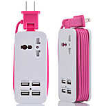 cheap -HZN402 Mobile Phone Charger Multi-Function Plug Usb Charger 4Usb Multi-Port Travel Plug