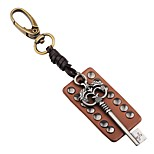 cheap -Keychains Jewelry Leather Alloy Irregular Rock Gothic Date Going out