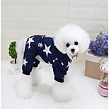 Кошка Собака Плащи Толстовки Одежда для собак На каждый день Сохраняет тепло Звезды Красный Синий Костюм Для домашних животных
