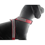 Dog Collar Harness Foldable Solid Rhinestone PU Leather/Polyurethane Leather Red Blue Pink