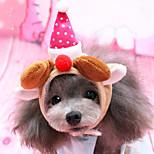 Недорогие -Собака Шляпы, колпаки, банданы Одежда для собак Рождество Новогодняя тематика Костюм Для домашних животных