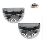 New Solar Lights 6LED Solar Wall Lamp Outdoor LED Semi-Circular Fence Lamp Garden Lawn Lamp 2PCS