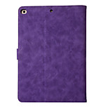 Case For Apple iPad Air 2 iPad (2017) Card Holder Auto Sleep/Wake Up Full Body Solid Color Hard PU Leather for iPad (2017) iPad Air 2