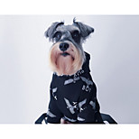 Dog Hoodie Dog Clothes Cultural Unusual Stylish Casual/Daily Fashion Print White Black Costume For Pets