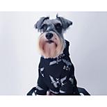 Hund Kapuzenshirts Hundekleidung Kultur Ungewöhnlich Stilvoll Lässig/Alltäglich Modisch Druck Weiß Schwarz Kostüm Für Haustiere