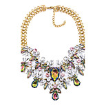 Women's Choker Necklaces Multi-stone Drop Synthetic Gemstones Alloy Sexy Statement Jewelry Jewelry For Party Stage