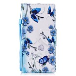 cheap -Case For Sony Xperia XA1 Xperia E5 Card Holder Wallet with Stand Flip Pattern Full Body Butterfly Flower Hard PU Leather for Sony Xperia