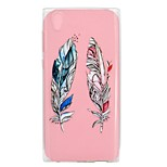 cheap -Case For Sony Xperia XA1 Ultra Xperia XA1 Transparent Pattern Back Cover Feathers Soft TPU for Sony Xperia XZ1 Sony Xperia XA1 Sony