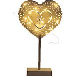 1pc вел свет ночи стильный тип сердца для праздников теплый белый 12v 2w 2 * aabattery приведенный в действие без батареи