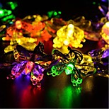 Solar Christmas Lights Petals 20 LED 4.5M Waterproof Solar Light String Outdoor for GardensWeddingChristmas Tree