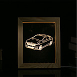 1 Set Of 3D Mood Night Light LED Lights USB Bedroom Photo Frame Lamp Gifts Car