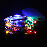 1PCS HKV® 1M 10 LED Waterproof Copper Wire Lamp String Christmas Decorative Lamp DC 5V Batteries Not Included