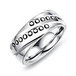 Муж. Классические кольца Смола На каждый день корейский Титан Сталь Геометрической формы Бижутерия Назначение Другое Повседневные