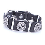 Men's Bracelet Link Bracelet Vintage Rock Leather Alloy Circle Jewelry For Casual Club