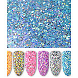 cheap -Six-piece Suit Glitters Sparkle/Shine Sequins Glitter Powder Royal Blue Silvery Gold Pink Yellow purplish blue Nail Art Design