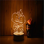 1 Set Of Decorative Acrylic 3d Night Light LED Bedroom Lamp Mood Lamp, Hand Scanning, Dimming, Color Change, 3W, Children