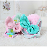Dog Dog Scarf Dog Clothes Polyester Winter Spring/Fall Casual/Daily Bowknot Green Pink Costume For Pets