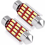 2PCS 36MM C5W Cabin Light Festoon 4014 12SMD LED CAN-bus Error Free White Color