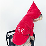 Dog Hoodie Dog Clothes Casual/Daily Letter & Number Red Costume For Pets