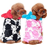 cheap -Dog Jumpsuit Dog Clothes Casual/Daily Cartoon Pink Coffee Black Costume For Pets