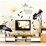 Недорогие -Цветы Пейзаж Наклейки 3D наклейки Декоративные наклейки на стены,Бумага материал Украшение дома Наклейка на стену