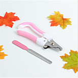 Cat Dog Cleaners & Polishes Grooming Kits Scissor Nail File Portable Adjustable Flexible Pink Blue