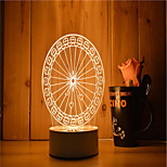 1 Set Of Decorative Acrylic 3d Night Light LED Bedroom Lamp Mood Lamp, Hand Scanning, Dimming, Color Change, 3W, Round