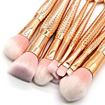 10 pcs Makeup Brush Set Synthetic Hair Full Coverage Plastic Face