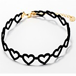 Women's Choker Necklaces Heart Silver Plated Gold Plated Alloy Casual Sweet Lovely Fashion Jewelry For Daily Date