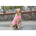 Cat Dog Vest Dog Clothes Convertible Dress Keep Warm Solid Red Blue Pink Costume For Pets