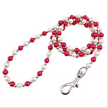 cheap -Leash Portable Folding Lolita Other Material Beads White Red