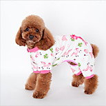 Cat Dog Sweatshirt Pajamas Dog Clothes One Piece Casual/Daily Leisure Animal Yellow Blue Pink Costume For Pets