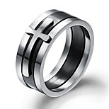 Men's Band Rings Fashion Korean Titanium Steel Geometric Jewelry For Daily Formal