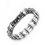 Men's Chain Bracelet Vintage Silver Plated Geometric Jewelry For Gift Daily