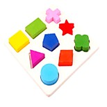Wooden Puzzles Toys Plane Square Cut Family School New Design Kids Pieces